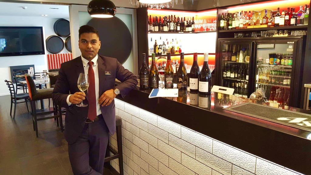 "Our restaurant manager ""Anshul"" is also a WSET trained Sommelier!"